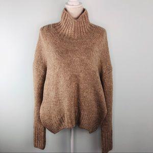 H&M Light Brown Oversized Knit Sweater Sz M